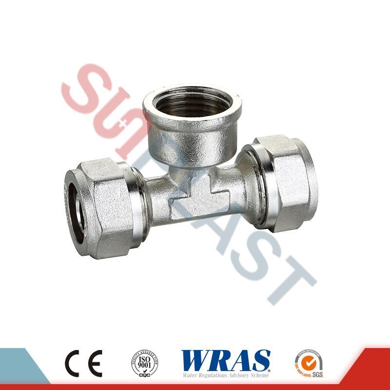 PEX-AL-PEX多層パイプ用真鍮圧縮メスティー