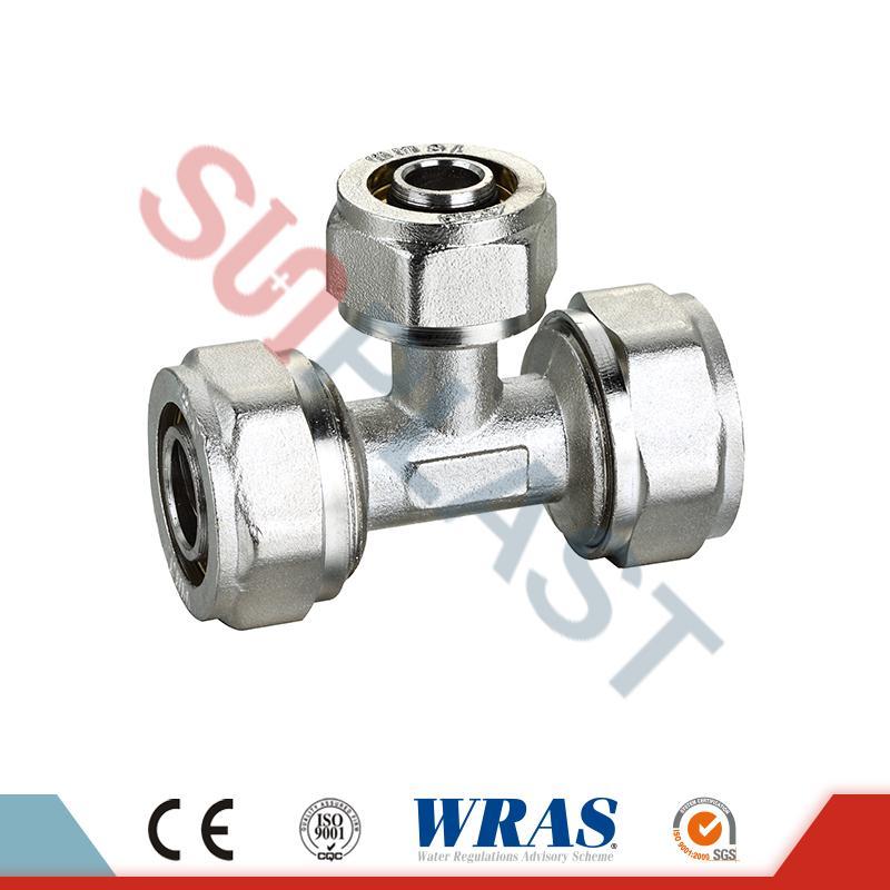 PEX-AL-多層PEXパイプ用真鍮圧縮同等ティー