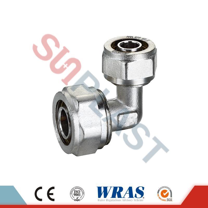 PEX-AL-PEX多層管用黄銅製圧縮エルボ継手