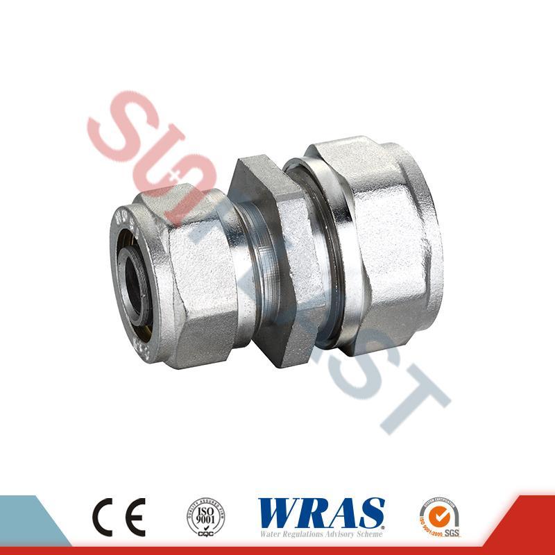 PEX-AL-PEX多層管用黄銅製圧縮低減カップリング