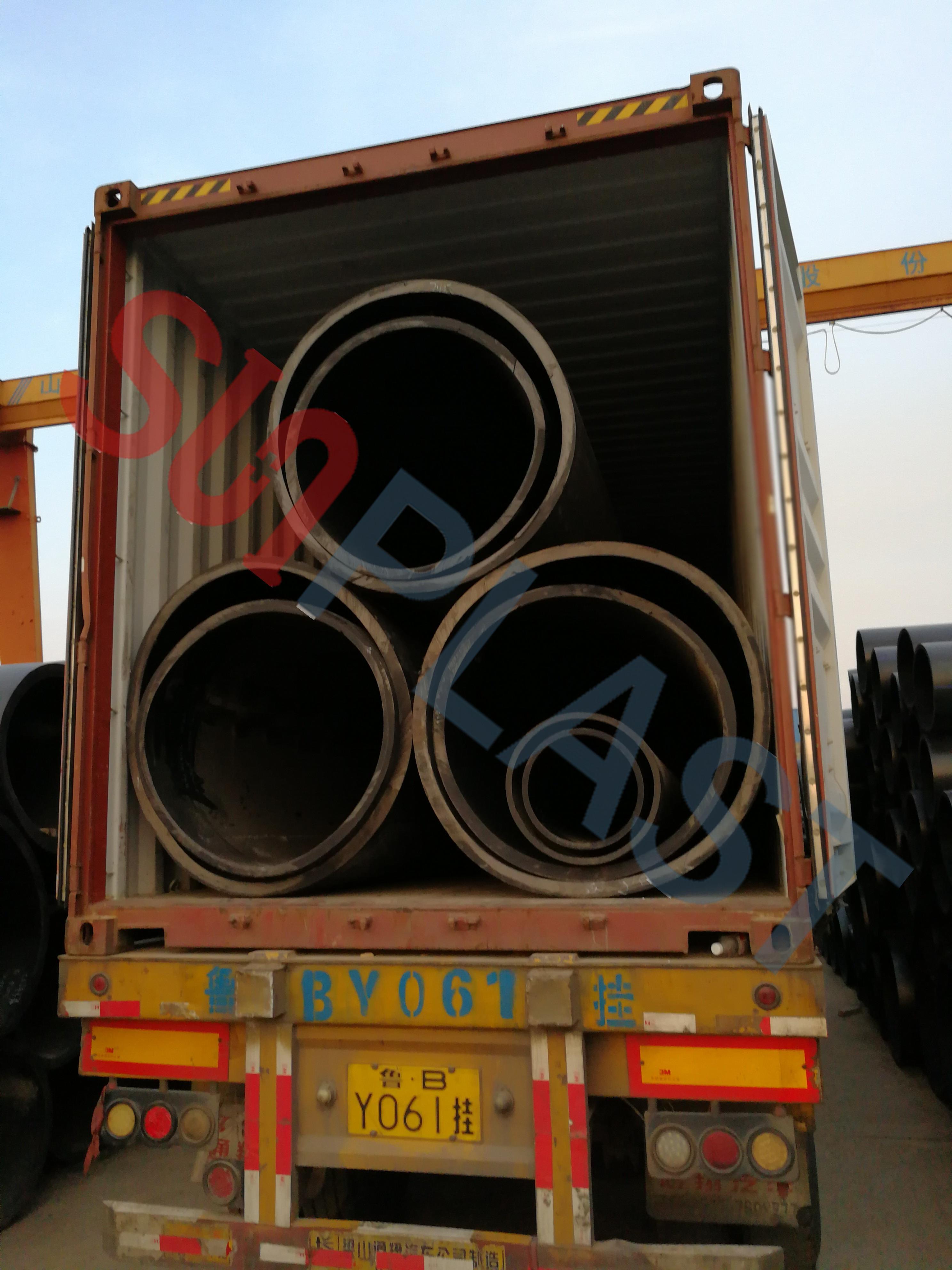 オーストラリアへのSUNPLAST DN1000 / DN1200mm HDPEの管